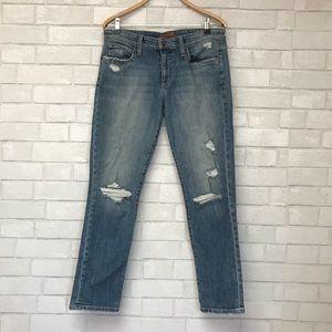 Joe's Easy High Water Distressed Jeans